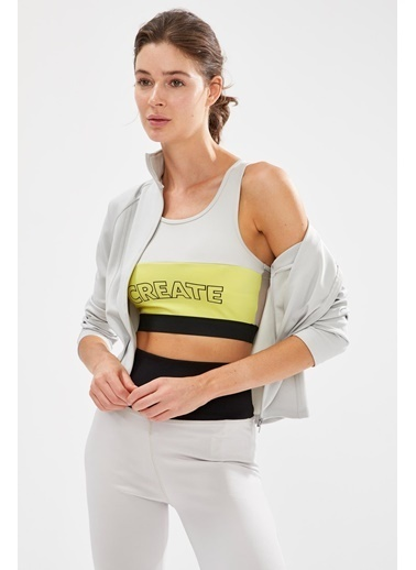 Defacto –Fit Fermuarlı Parmak Detaylı Sweatshirt Gri
